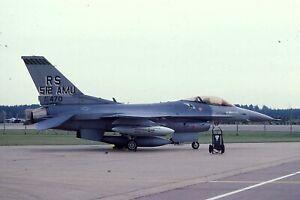 Original colour slide F-16C 85470/RS of 512 AMU 86 TFW USAF