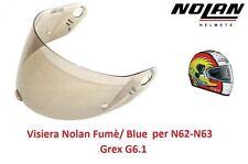 Visiera di ricambio Nolan Fumè/Blue per Casco Nolan N63 N62-Grex G6.1