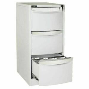 Stilford 3 Drawer Filing Cabinet White, new in box with keys