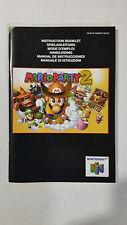 Mario Party 2  NINTENDO 64 N64  / notice livret uniquement / très bon état !