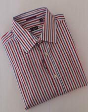 Paul Smith Camicia Taglia 16.5 extra-large Rossa Strisce Blu Gamma di Londra