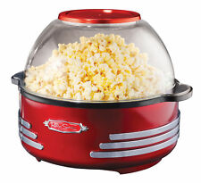 NEW Nostalgia '50s Style Stir Popper 24 Cups Movie Theater Popcorn Retro RED