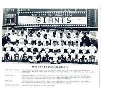 1975 SAN FRANCISCO GIANTS 8X10 TEAM PHOTO SPEIER RADER  BASEBALL  USA