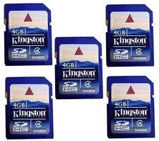 5*Kingston SDHC 4GB Speicherkarte Class 4