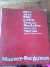 MASSEY FERGUSON 2000,2005,3500 SERIES SERVICE MANUAL DEALER VERSION