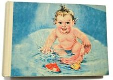 Terra Traditions Photo Album Child Baby Vintage Bathtub Water Toys Picture