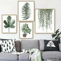 13*18cm Nordic Canvas Hanging Plant Leaf Art Poster Print Home Wall Picture New