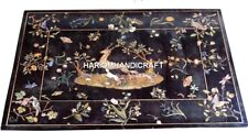 4'x3' Inlaid Marble Animal Birds With Floral Outdoor Dining Table Top Rare Gifts