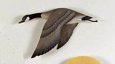 WALL SCULPTURES -  FLYING CANADA GOOSE WOODEN WALL SCULPTURE - LAKE HOUSE DECOR