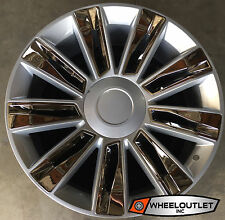 "22"" Rims New Platinum Silver Chrome Wheels Fit Cadillac Escalade EXT ESV"