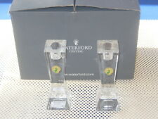 NEW Waterford Crystal Pair 6 inch Single Light Candlestick Holders 164208 NOS