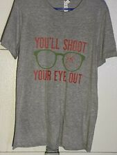 Vintage A Christmas Story You'll Shoot Your Eye Out Tee T Shirt Medium Holiday