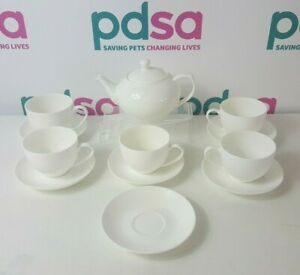 Maxwell & Williams Cashmere Fine Bone China White 12 Piece Tea Set - S3_635