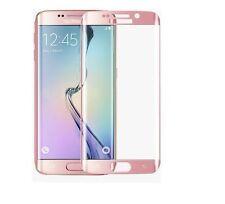 Samsung Galaxy S7 Edge Panzerglas Panzerfolie Full Screen 3D Rosa Rose Pink TOP