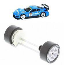 Scalextric W9318 Nissan 350Z Ruedas Traseras Eje Gear Neumáticos & Rodamientos Nuevo Calsonic