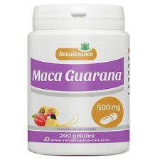 Maca - Guarana  200 gélules dosées 500 mg