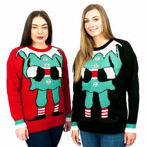 Adult Women Kids Christmas Retro Knitted Jumper Xmas Warm Sweater