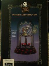 Nightmare Before Christmas Porcelain Anniversary Jack & Sally Clock Mint