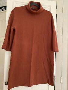 Ladies ZARA Polo Neck Jumper Dress 10-12