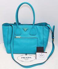NWT PRADA Vitello Daino Leather Bag New & Authentic (Turquoise color) BN2795