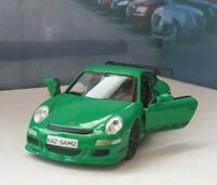 PERSONALISED PORSCHE 911 GT3RS GREEN DIECAST MODEL CAR BOXED BOYS TOYS GIFT NEW