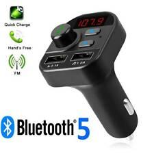Bluetooth 5.0 fm transmitter handsfree car kit adapter radio Wireless MP3 USB w6