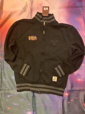 MITCHELL & NESS MEN'S CHICAGO BULLS Basketball SIZE Large Black Fleece Jacket