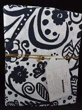 3 PC POTTERY BARN TEEN EMMA GARDEN SHEET SET XL TWIN BLACK WHITE #120