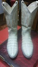 Mens cowboy boots  caiman alligartor tall 10.5 D Pointed Toe