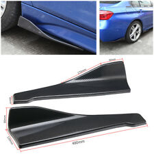 2pcs 3D Carbon Fiber Car Rear Bumper Left/Right Side Diffuser Strip Spoiler Lip
