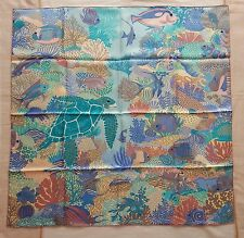 Authentic Hermes 90cm silk twill scarf carre – Under the Waves