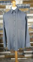 Pierre Cardin Grey Soft Touch Long Sleeved Mens Shirt Size L Large