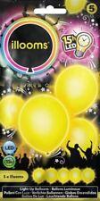 illooms LED Luftballons 5er Pack Leuchtende Ballons Gelb
