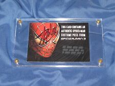 AMAZING SPIDER-MAN 3 Signed by Stan Lee ~Original Costume Prop Card