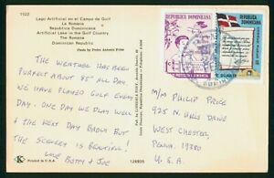 Mayfairstamps Dominican Republic Flag Boy Books Diploma Postcard wwp_65061