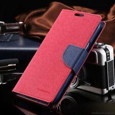 For iPhone 6/6s Plus Genuine MERCURY Goospery Red Folio Flip Case Wallet Cover
