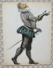 Dessin et Aquarelle - Costume Théâtre Soldat Henri II - B. Duquesnoy