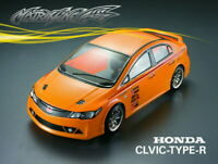 1/10 Honda Civic Type R 195mm RC Racing Car Transparent Clear Body Shell 201206