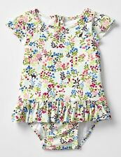 GAP Baby / Toddler Girl 18-24 Months NWT White Floral Peplum Ruffle Bathing Suit