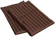 Pillow Case,  Egyptian Cotton 1000 TC, King Size - Chocolate Stripe @EbayUS