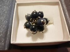 Sodalite Ring in Stainless Steel-Size 7-3.00 Carats