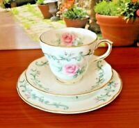 Duchess Bone China PInk Roses Tea Set Trio
