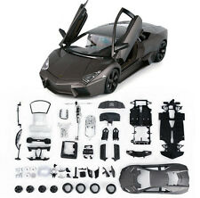 Bburago 1:24 Lamborghini Reventon Assembly Line Metal kit Model Car Gray