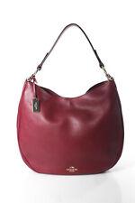 Coach Red Leather Shoulder Handbag Size Medium