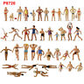 40pcs Different 1:87 HO Scale Seaside Visitors Swimming People Figures P8720