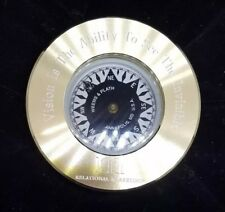 NEW 13 oz. WEEMS & PLATH Marine Navigation Compass Chart Weight  (Brass)