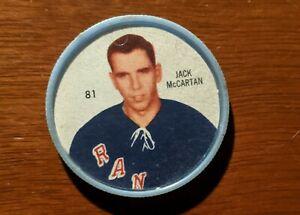 Shirriff coins Hockey coin 1960-61 Jack MaCartan # 81 New York Rangers