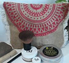 Pouch jute hessian makeup or clutch bag fringed Nature Delivers W24cm x H18 x D6