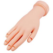 Soft Movable Hand Nail Art Acrylic/Gel Tip Design Practice Training Model Flex