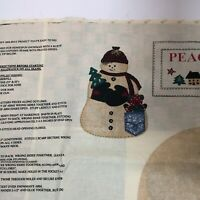 Peace in the Country Stuffed Snowman Fabric Panel Springs
